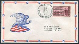 1946 USA Operation High Jump, Byrd Polar Expedition Ship Cover. USS BROWNSON. US Navy Eagle Patriotic - Polar Ships & Icebreakers