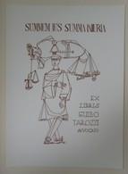 Ex-libris Illustré Italie XXème - GUIDO TAROZZI Avvocato - SUMMUM IUS SUMMA INIURIA - Ex-libris