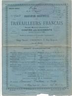 Assurances Association Industrielle Des Travailleurs Français Fondée à CHARTRES En 1882 Tampon R. De Saint Andéol DIJON - Bank & Insurance