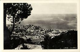 Lebanon, JOUNIEH JUNIYA, General View (1940s) RPPC Postcard - Lebanon