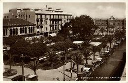 Lebanon, BEIRUT BEYROUTH, Place Des Martyrs, Cars (1940s) RPPC Postcard - Lebanon