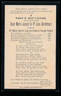 ZUSTER  IN DE WERELD  MARIE VAN DER VENNET  MEIGEM 1868  GENT 1910 - Décès