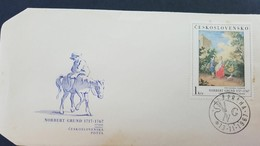 L) 1967 CZECHOSLOVAKIA, NORBERT GRUND 1717-167, PEOPLE, HORSE, NATURE, XF - Czechoslovakia
