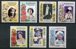 Barbuda ** N° 734 à 740 - 85 Ans De La Reine-mère Elizabeth - Central America