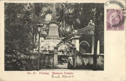 Straits Settlements, Malay Malaysia, PENANG, Siamese Temple (1907) Postcard - Malaysia