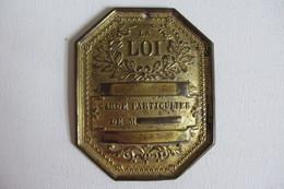 Plaque De Garde Particulier Ancienne - Army & War