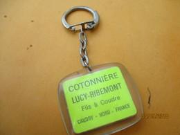 Porte-clé Publicitaire/Mercerie/Cotonniére LUCY-RIBEMONT/Fils à Coudre/CAUDRY/Dick Rivers/Plastique/Vers 1960     POC400 - Key-rings
