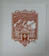 Ex-libris Illustré Italie XXème - GIULLIANA BORRA - Violoniste Par Cesari - Ex-libris