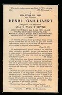 HENRI GAILLIAERT  OEDELGEM 1875  BRUGGE 1937 - Décès