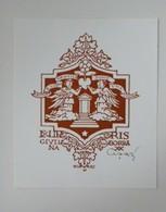 Ex-libris Illustré Italie XXème - GIULLIANA BORRA  Par Cesari - Anges... - Ex-libris