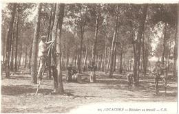 Dépt 33 - ARCACHON - Résiniers Au Travail - C. B. N° 105 - Arcachon