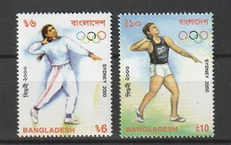 Bangladesh 2000 Scott 621-22 Sydney Summer Olympics 2v NH - Bangladesh