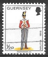 1974 1/2p Militia, Private, East Regt. 1815, Used - Guernsey