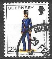 1974 2-1/2p Militia, Corporal, Royal Guernsey Artillery, 1868, Used - Guernsey