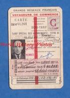 Carte Ancienne De Chemin De Fer - FOUGERES - Voyageurs De Commerce - 1940 1941 - Joseph Bouffort - Train Rail - Titres De Transport