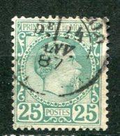 8907  MONACO  N° 6 ° 25c. Vert   Prince Charles III      1885   TB - Monaco