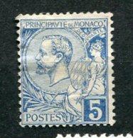 8910  MONACO  N° 13 (*)  5c. Bleu   Prince  Albert  1er      1891-94   B/TB - Neufs