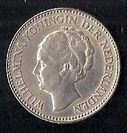NEDERLAND (PAYS-BAS) 1/2 GULDEN - WILHELMINA - ARGENT - 1/2 Gulden