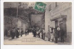 CPA 06 CASTILLON Route De Menton à Sospel Hotel Des Etrangers - France