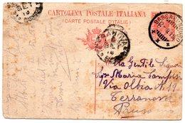 2.9.1918 Annullo Ambulante  SASSARI / NUORO Su Cartolina Postale -  Bollo Terranova In Arrivo - 1900-44 Vittorio Emanuele III