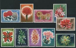 1966 Rwanda, Fiori, Serie Completa Nuova (**) (30 C. *) - 1962-69: Nuovi