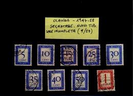 Paesi Bassi 1947-58 - Segnatasse, Nuovo Tipo - Serie Incompleta (9 Valori Su 27, Usati) - Tasse
