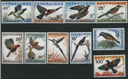 (151) 1967 Rwanda, Uccelli, Serie Completa Nuova (**) - 1962-69: Nuovi