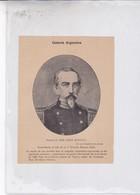 GENERAL JOSE MARIA BUSTILLO. ARGENTINE PATRIOTIQUES LAMINA SHEET PLANCHE CIRCA 1890s RARES SIZE 13x17 Cm - BLEUP - Affiches