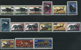 (152)1964 Rwanda-Urundi, Animali Soprastampata, Serie Completa Nuova (**) - 1962-69: Nuovi