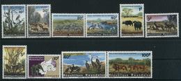1965 Rwanda, Parco Di Kagera, Serie Completa Nuova (**) (30 C.*) - Rwanda