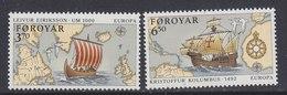 Europa Cept 1992 Faroe Islands  2v ** Mnh (40851K) - Europa-CEPT
