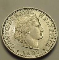 1987 - Suisse - Switzerland - 20 RAPPEN (B), KM 29a - Suisse