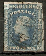 NEW SOUTH WALES 1856 2d BLUE  SG 112 FINE USED Cat £14 - Usados