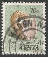 Kenya. 1971 Sea Shells. 70c Used Inscr. Nautilus Pompilius. SG 46 - Kenya (1963-...)