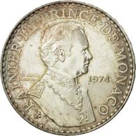 Monnaie, Monaco, Rainier III, 50 Francs, 1974, SUP, Argent, KM:152.1 - Monaco