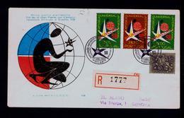 Bruxelles Universal Exposition Symbol Atomo Fdc 1958 Portugal (SCARCE Vignette On Back Side) #9793 - 1958 – Bruxelles (Belgique)