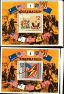 72283) GRENADA-1975 - 200 ANN.RIVOLUZIONE AMERICANA - BF.39-40 - USATI - VEDI FOTO - Grenada (1974-...)