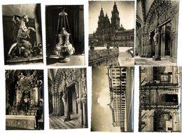 ESPAGNE SAINT JACQUES DE COMPOSTELLE LOT 8 CARTES POSTALES CPM ET CPSM  1950 / 60 - Santiago De Compostela