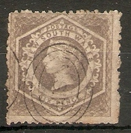 NEW SOUTH WALES 1860 6d GREY - BROWN SG 143 PERF 12 FINE USED Cat £65 - Usados