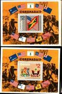 72284) GRENADA-1975 - 200 ANN.RIVOLUZIONE AMERICANA - BF.39-40 - MNH** - Grenada (1974-...)