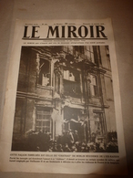 1919 LE MIROIR: Sous-marin DEUTSCHLAND II;Laforest,Drocourt,Douai,Anor,Fourmies;Crimes Des Yougo-Slaves Et Des Polonais; - Riviste & Giornali