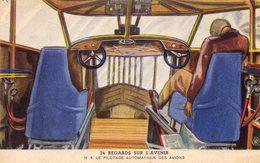 Carte Byrrh  Regards Sur L'avenir   N°4 Le Pilotage Automatique Des Avions - Publicidad