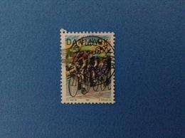 1985 DANIMARCA DANMARK FRANCOBOLLO USATO STAMP USED - 6.00 SPORT CICLISMO - Denmark