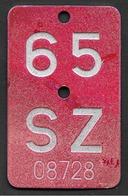 Velonummer Schwyz SZ 65 - Plaques D'immatriculation