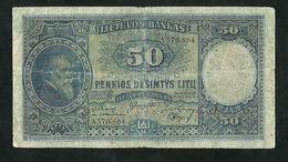 Lithuania 50 Litu 1928, Pick#24a F/VF BANKNOTE - Lituanie