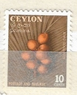 CEYLON ( SRI LANKA)  -1954 Local Motifs  KING COCONUT    MINT - Ceylan (...-1947)