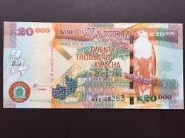 ZAMBIA P47 20000 KWACHA 2008 UNC - Zambia