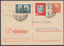 """P 43, Zudruck """"Besuch Des Bundespräsidenten"""", Pass. Sst - 1957-59 Bundesland"""