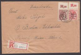 """192, A 195, R-Brief """"Plauen"""", 10.7.48, Beide Oberrand Nicht Durchgezähnt - Sowjetische Zone (SBZ)"""