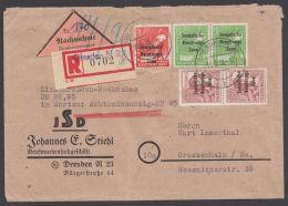 """214, 215, 225, Portoger. R-NN-Brief """"Dresden"""", 9.9.48 - Sowjetische Zone (SBZ)"""